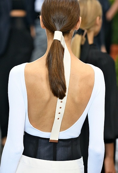 6.Tibi  These sleek, belted ponytails are giving meserioushair envy.