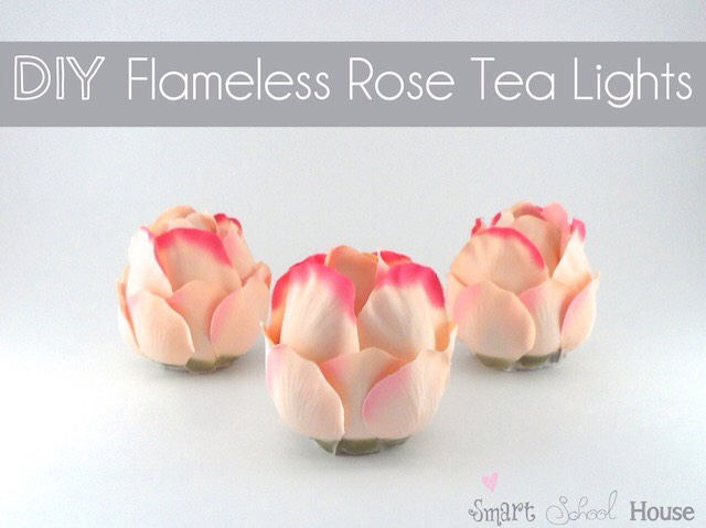 TAKEN FROM |http://www.smartschoolhouse.com/crafts-and-diy/diy-flameless-rose-tea-lights/2  There is also a VIDEO TUTORIAL! Check it out!