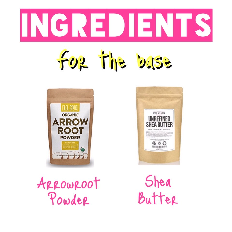 In case someone asks...  Substitution for Arrowroot | You could probably use cornstarch, but I would highly recommend arrowroot because it's a finer + lighter powder + less irritating in my experience. Tapioca flour might be another alternative. But experiment at your own risk!