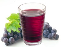 Grape juice helps a severe headache