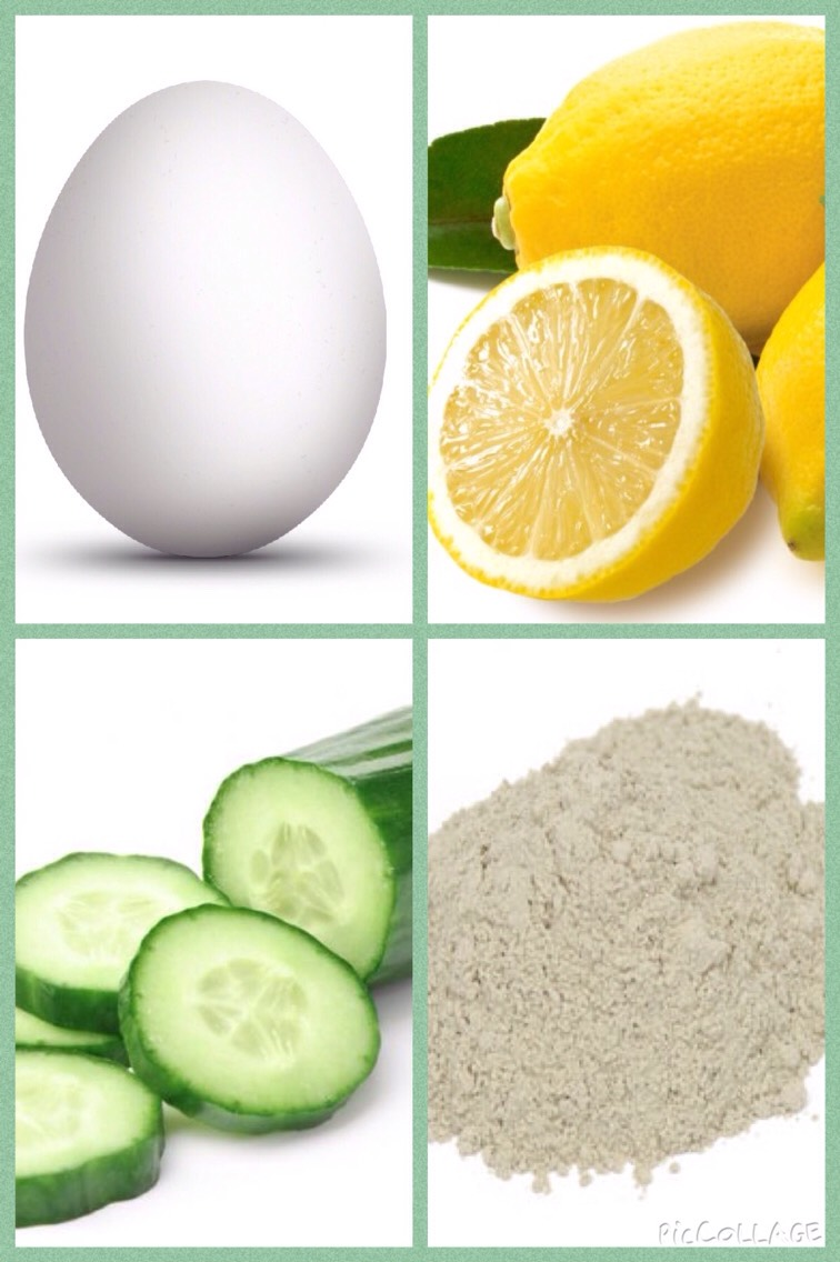 Ingredients: 1tbsp. Cucumber juice 1 egg white  A few drops of lemon juice 1/2 tsp. of clay