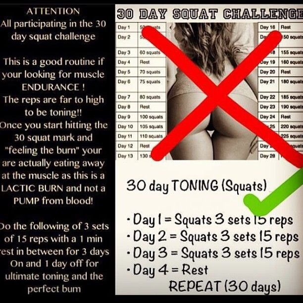 Attention Girls Who Are Doing 30 Day Squat Challenge  by Mal