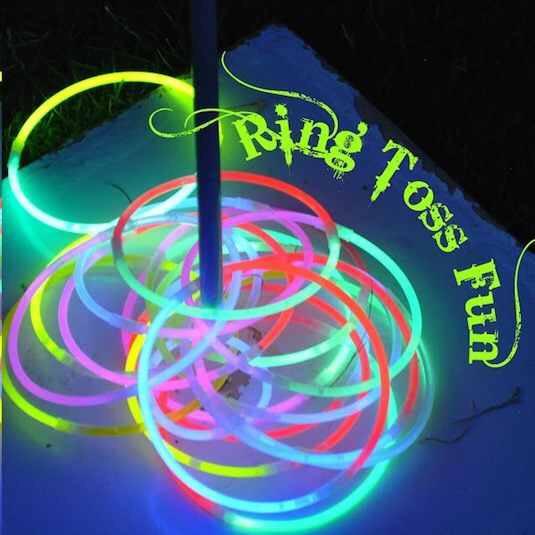 Glow stick ring toss