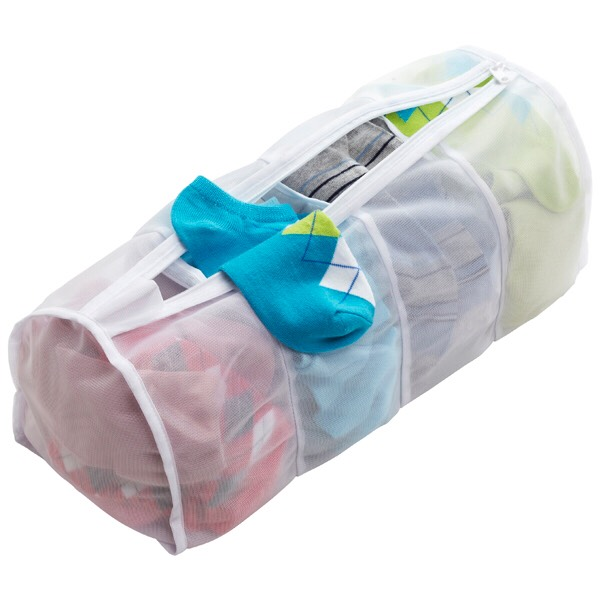 7. Mesh Bags Mesh bags for laundry were invented to protect delicates, but you can also use them to prevent lost socks, protect knits that risk snagging or unraveling, lace shirts or anything else you don't want getting bashed about by a normal wash cycle.