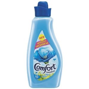 Use diluted fabric softener as a leave-in hair conditioner. Make sure to dilute it!