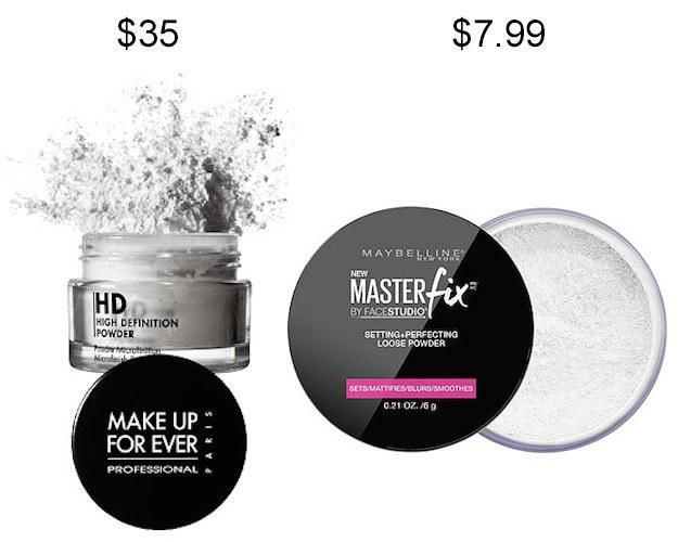 Maybelline Master Fix Setting + Perfecting Powder in place of Make Up For Ever HD Microfinish Powder.