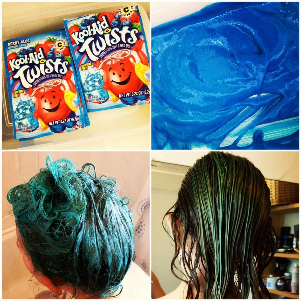 Mix with a little water and add it to your hair! Let it sit for a few mins. Then rinse with water!