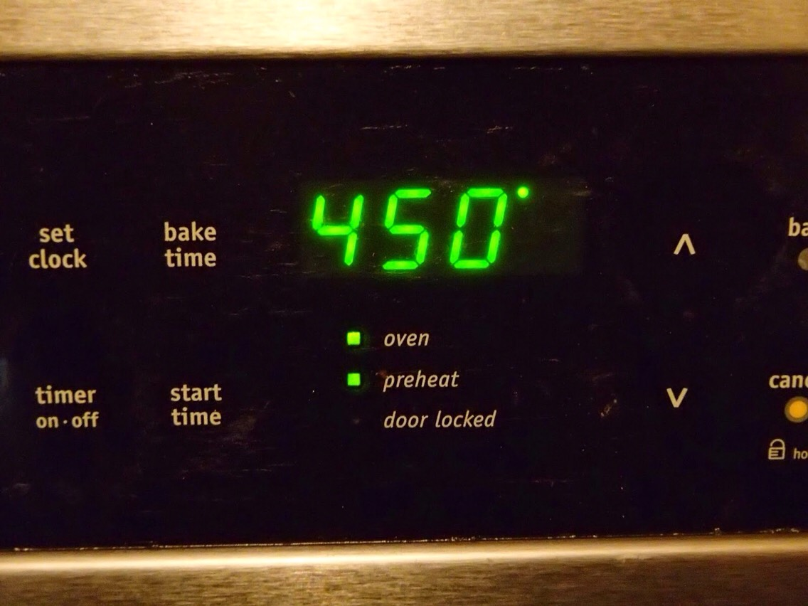 Preheat the oven to 450 degrees.