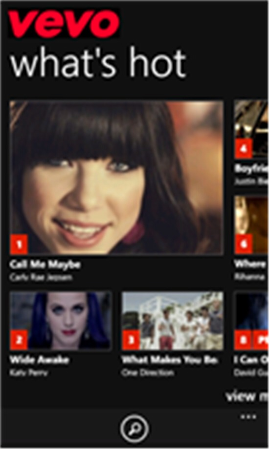 The VEVO app! Access 50,000+ music videos from your phone or tablet.