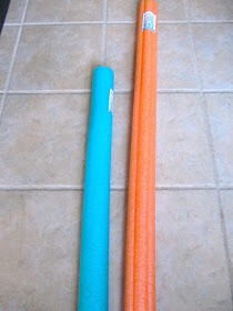 For napkin decoration which can be used with either pool noodle you prefer