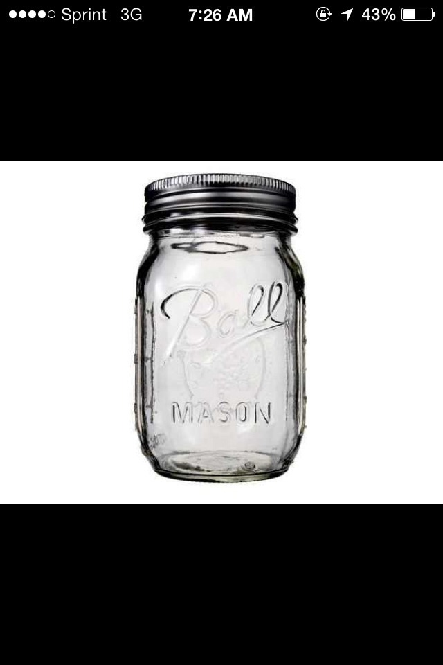 Fill a clean jar with baking soda until it's about 1/3 full