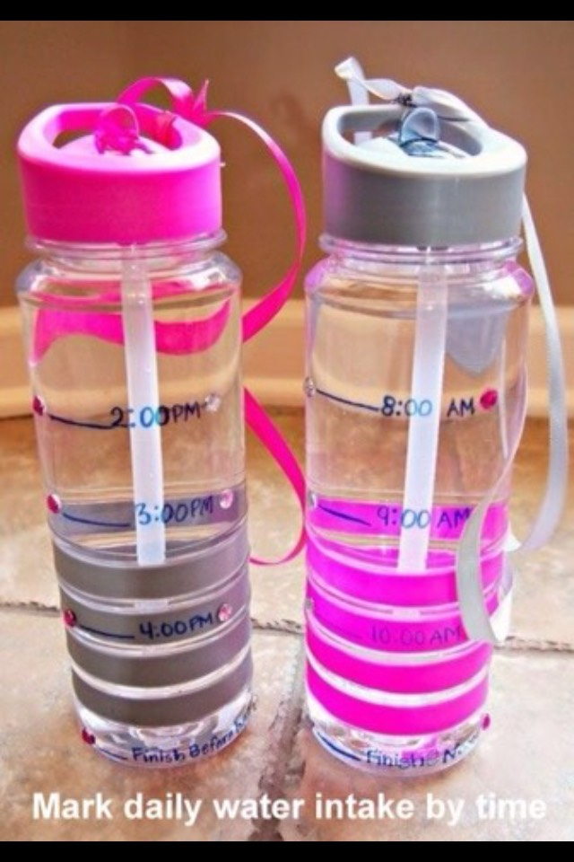 smart way to remember to drink water!