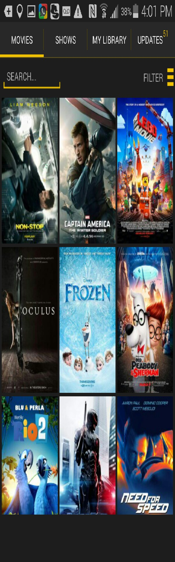 after downloading, select a movie you like