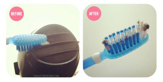 36. Bonus! Use an old toothbrush to clean out your clogged hairdryer.