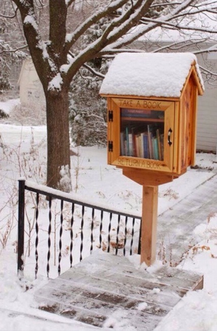 Take a book, return a book! Perfect for your neighbors