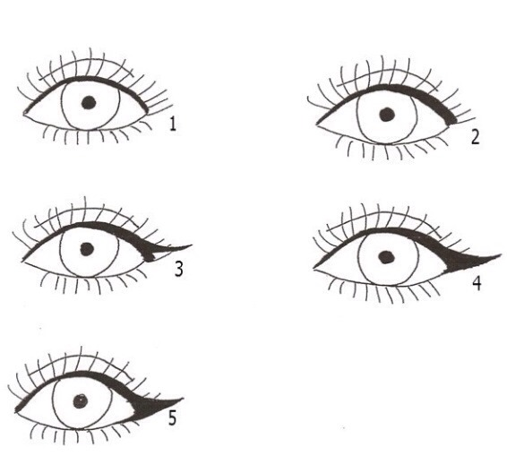 Unless you're a pro at a cat eye... Follow these simple steps-  1. Line too lid; close to the lashes 2. Thicken the line at the outer corner 3. Wind out the line in a triangle  4. Fill in between the lines of your triangle 5. Add mascara and VOILA!