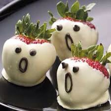 Dip In yogurt or in white chocolate and add adorable faces with frosting