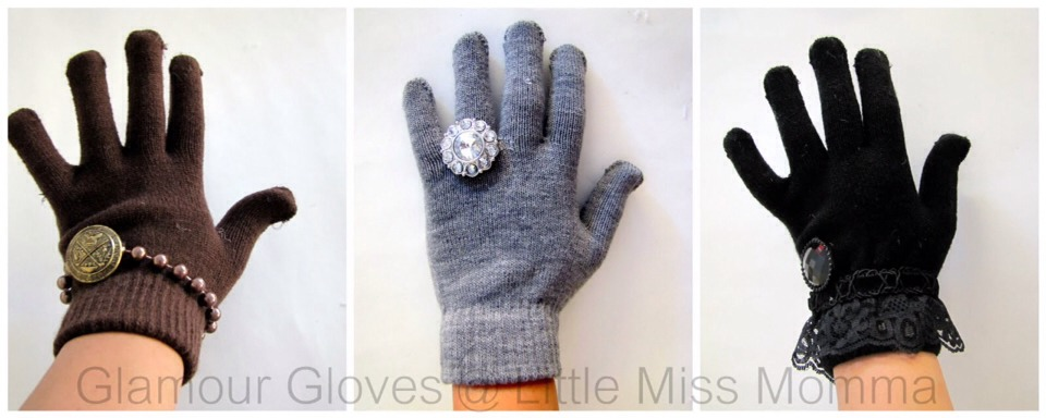 Winter is coming! So why not glam up those generic 2$ gloves and make them your own?