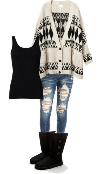 Nice, big cardigans are very stylish and need no effort to style. They can always be dressed up or down.