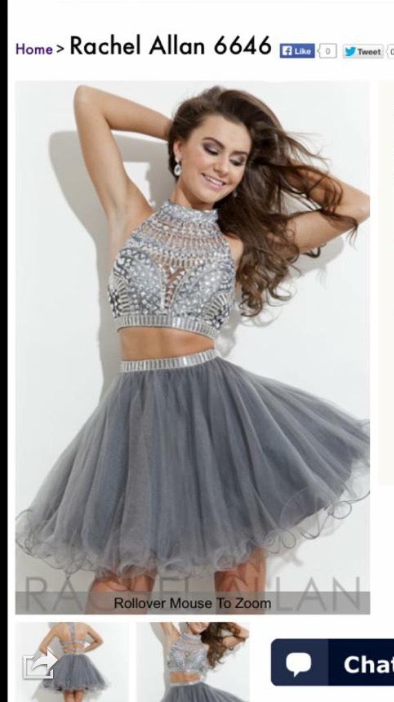 Cool grey two piece dress