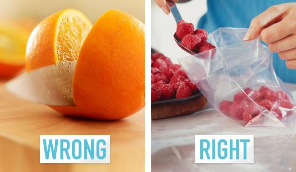 7. You prep ingredients every time you want to make a smoothie.