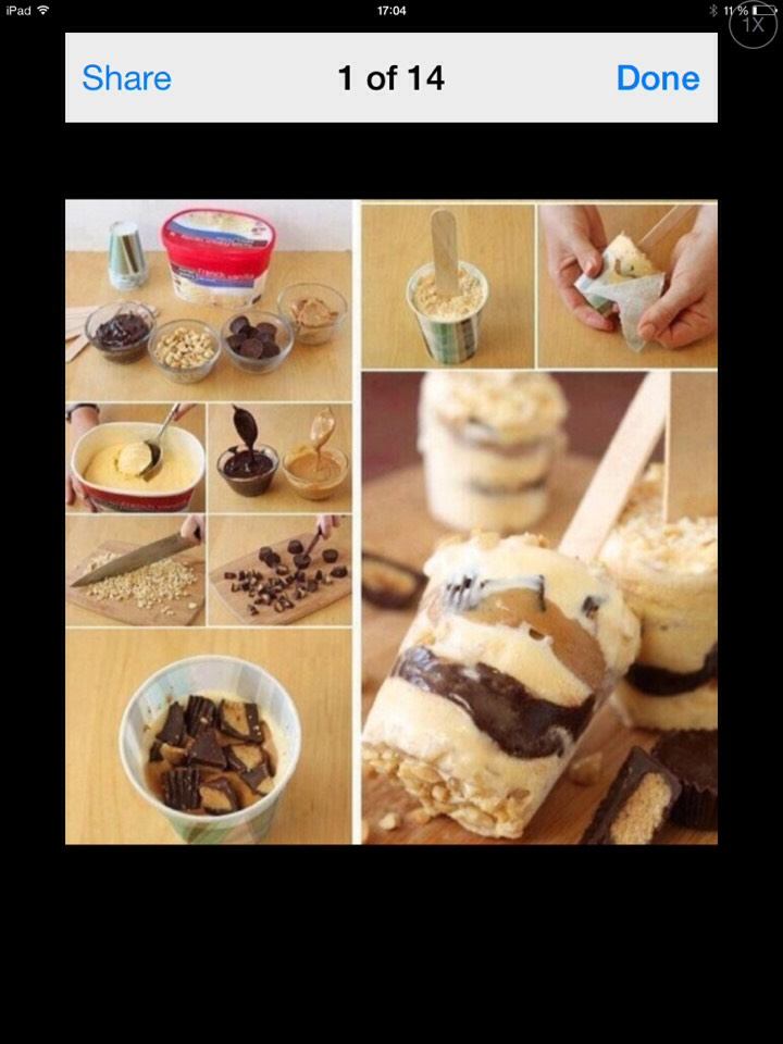 All you need is some ice cream, peanuts, caramel and chocolat! Easy and delicious!