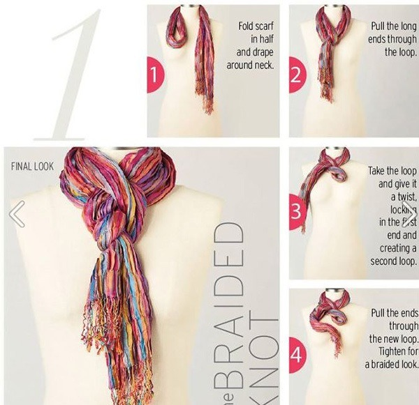 Lastly, try a braided knot that is different and fun.