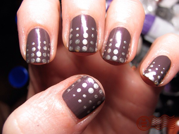 Paint your nails a color and then use different bobby pins add the different shapes