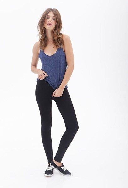 A Pair Of Opaque Black Leggings Leggings are for days when jeans aren't cutting it and  [you] want to mix it up. Be sure to pair them with a slouchy oversized T-shirt or shirtdress. Leggings are your best bet for days when you want to wear sweatpants but don't want to look like you just woke up.