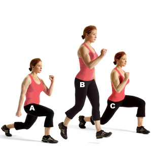 lunges are good for your maximus and streches