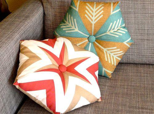 Make your own original pillows in the shape of a hexagon and brag about them, everyone will want to know where you got them ;)