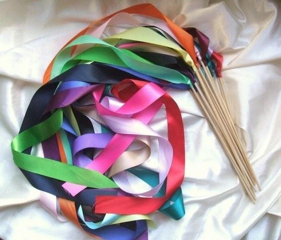9. Hand out these easy-to-DIY ribbon wands, then turn up the tunes so the kids can have a twirl-tastic dance party.