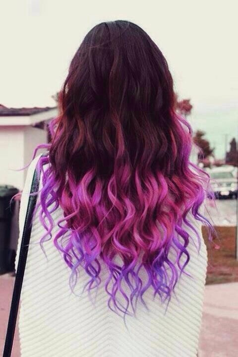 Red to Purple Ombré