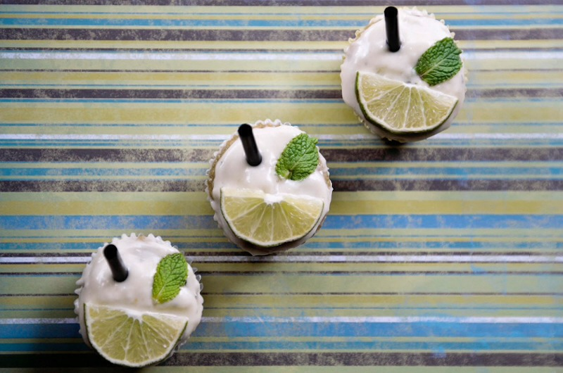 6.Mint Mojito Cupcakes.  Now this is how one celebrates summer. And mojitos. And cupcakes.   For the frosting, use an electric mixer to combine the margarine and the cream cheese. Add powdered sugar in batches, and then add the rum and lime juice, and mix once again. Taste to make sure it's perfect.