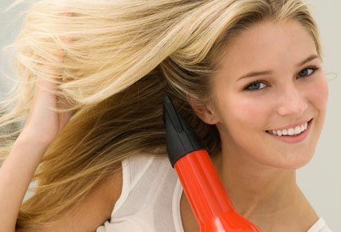 Blow dry your hair (optional)