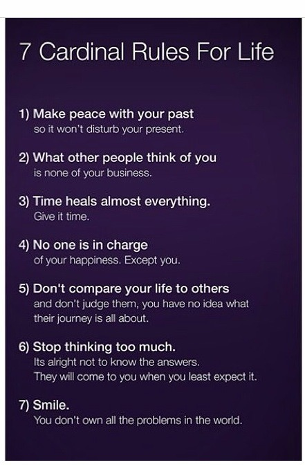 7 Rules Of Life Quote Simple Musely