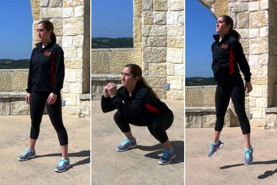 Jump squat Sets: 3 Reps: 15