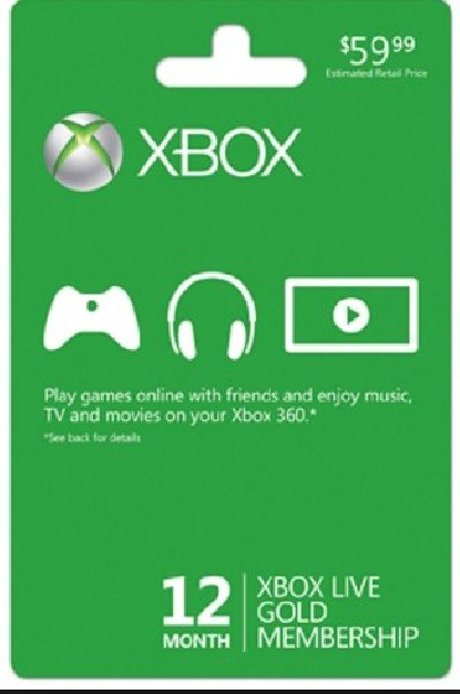 Next its a year subscription to Xbox live price is $59 plus tax without this they won't be able to play games online.