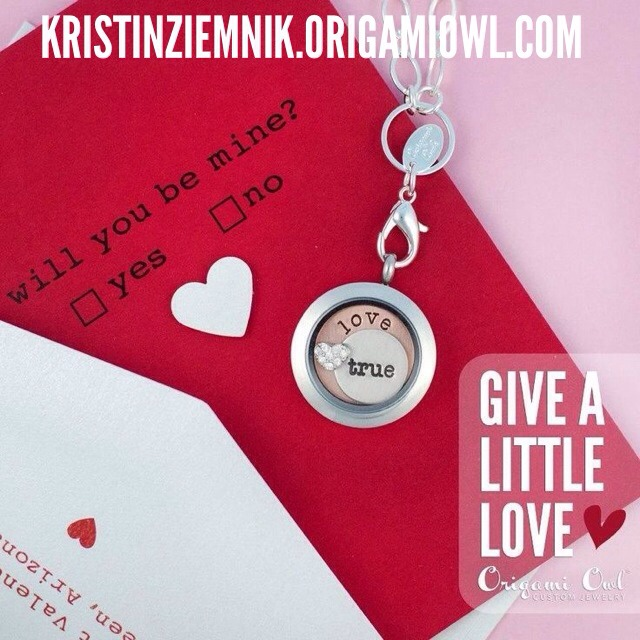 Give the gift of love with Origami Owl this Valentine's Day!