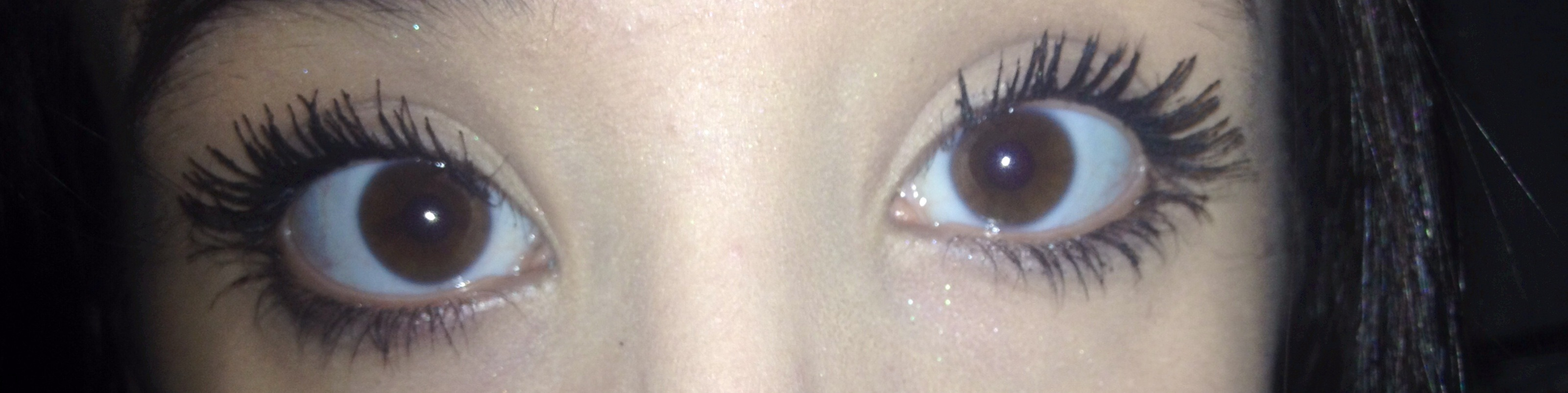 baby powder lash lengthening trick results: personally I don't like it.