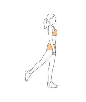 standing abductionStart with your legs shoulder-width apart. Lift your right leg behind you at a 45-degree angle about six inches off the floor and point your toe. Squeeze your glutes for four seconds. Repeat on the left side.