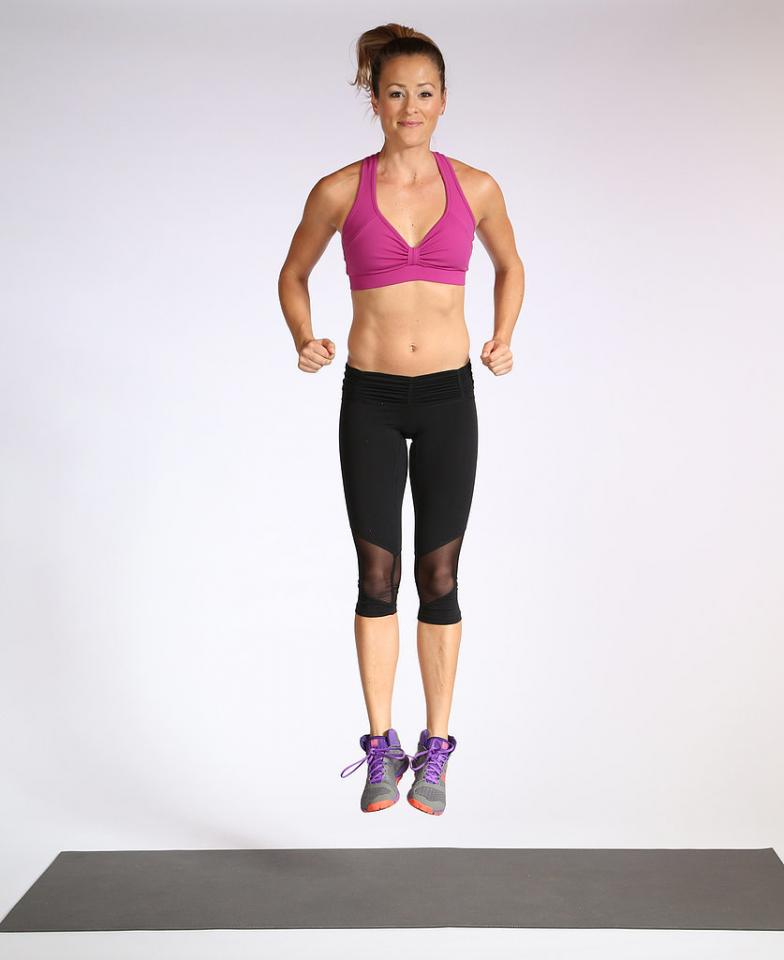 Add some jumping to your strength-training workouts for quicker results. Catching air with plyometric exercises means burning more calories in less time. The nine moves in this circuit work your entire body, and half of them are plyo.