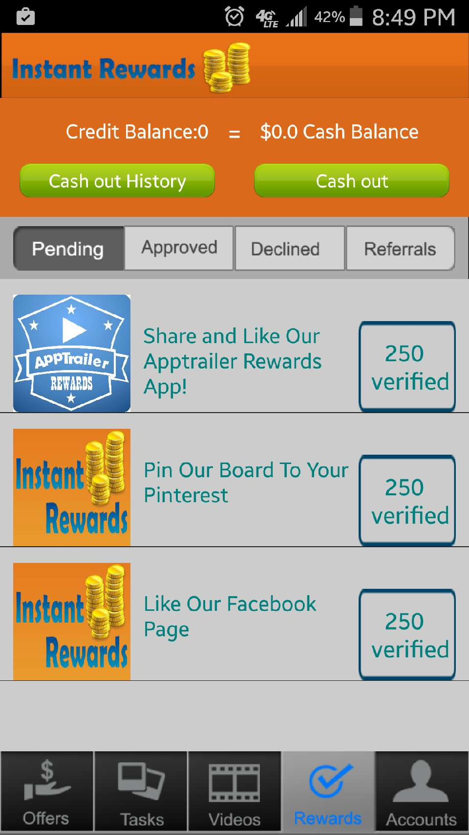 Still pending rewards but the rewards I've done are so simple! Why not make a few simple bucks?