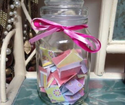 Write down all the tasks you would like to accomplish that you don't normally do on slips of paper. Fold them and put them in a jar. Decorate it however you wish.