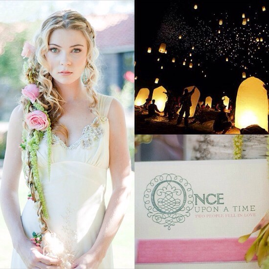 A tangled theme would be very fancy yet casual, which I believe is ideal for the perfect wedding