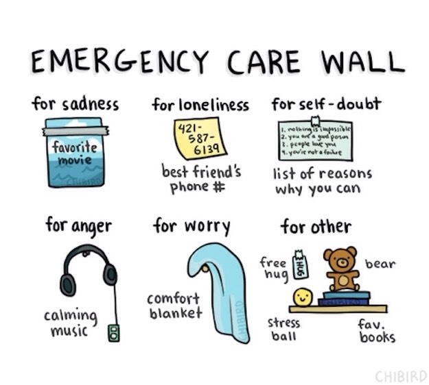 """14. Build your own """"emergency care wall."""""""