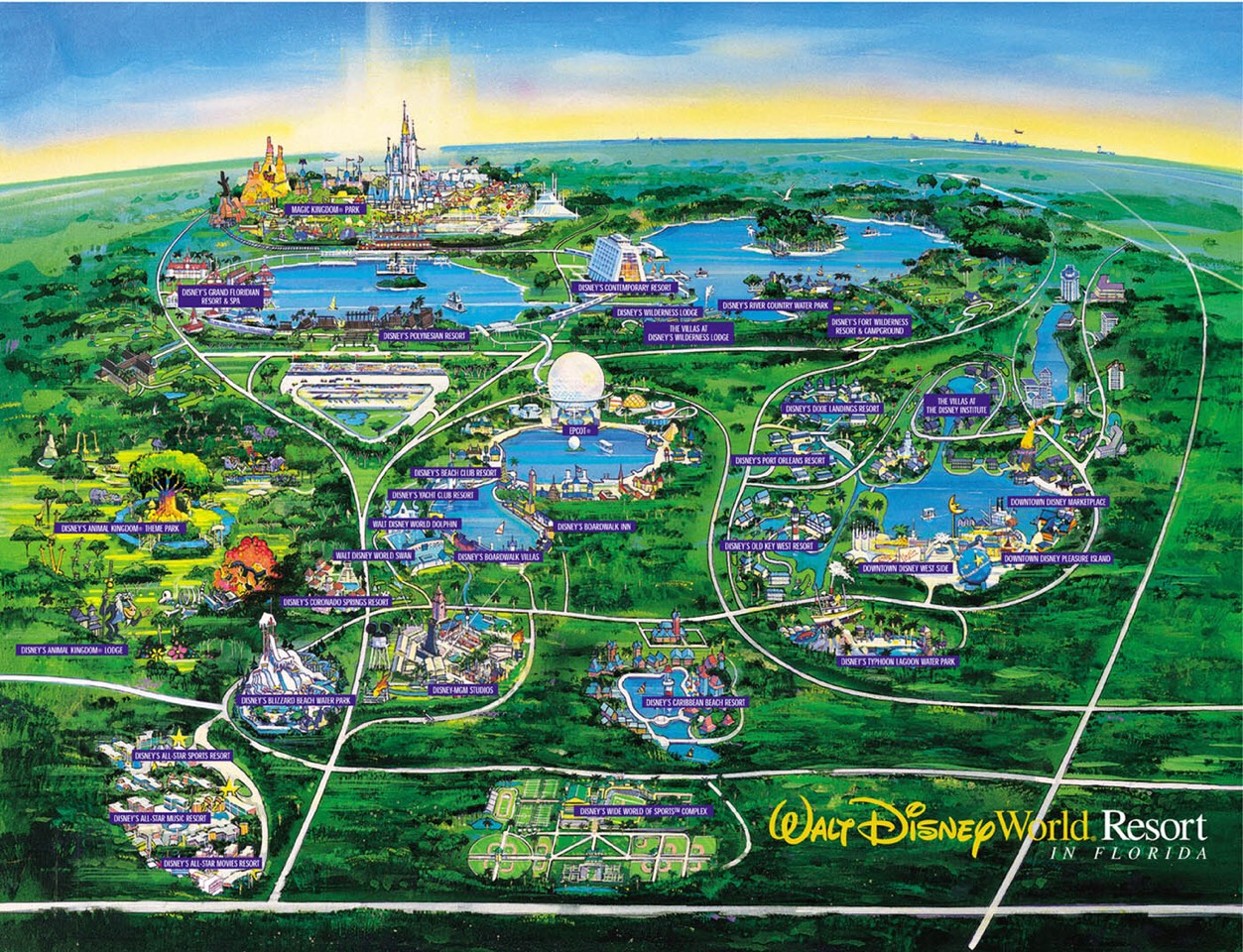 Stay at a resort. The big perk of staying at a Disney resort is the bus system. No parking, no rental car costs, no gas money going to and from parks. Disney runs buses from park to park, and only Disney World Resort guests can ride them! If you make a purchase at a gift shop in the parks, you can h