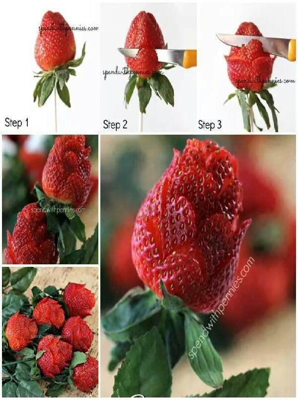 Strawberry Bouquet DIY