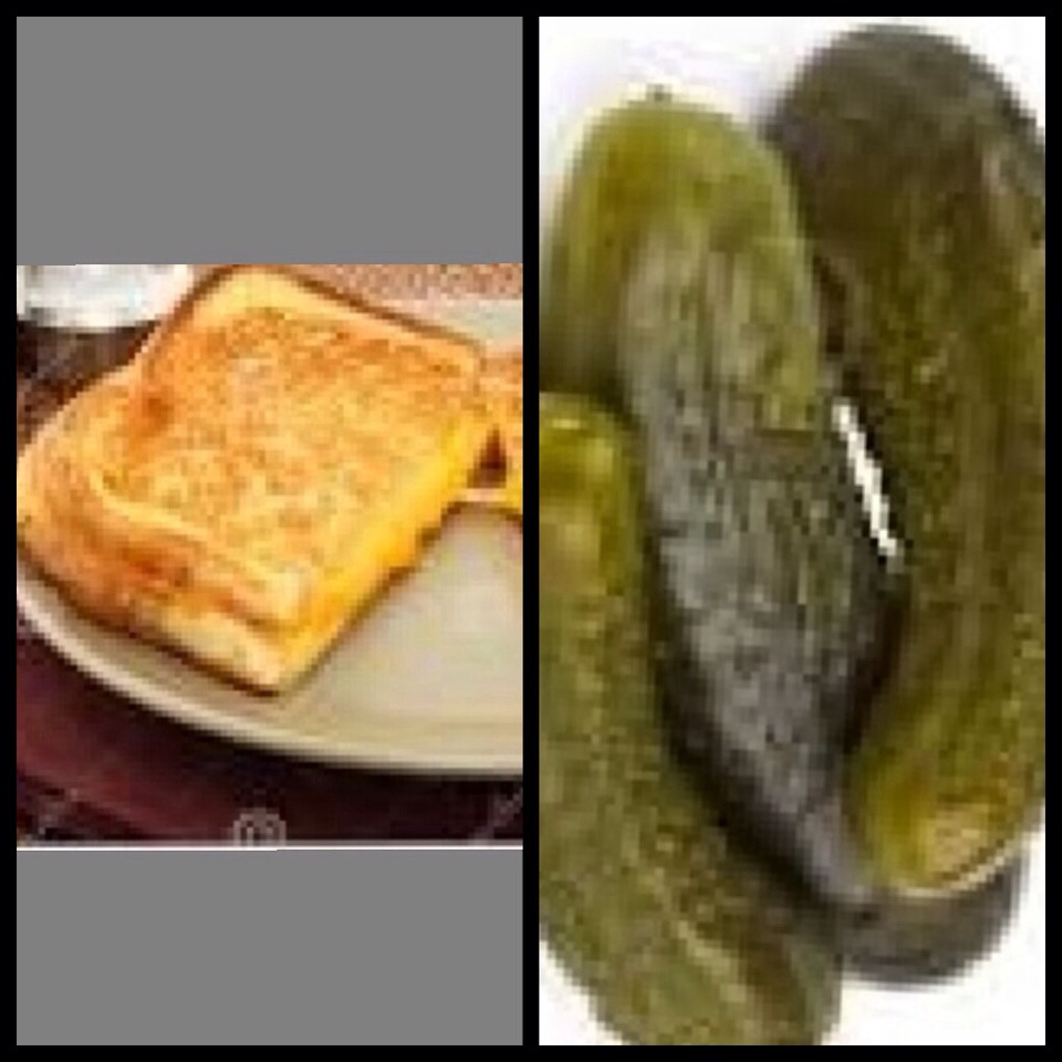 Grilled cheese with pickles!
