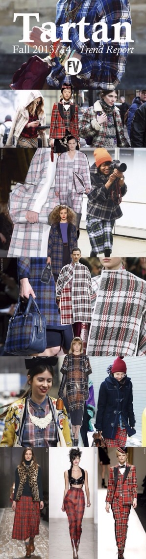 Tartan has always been in, especially during the fall
